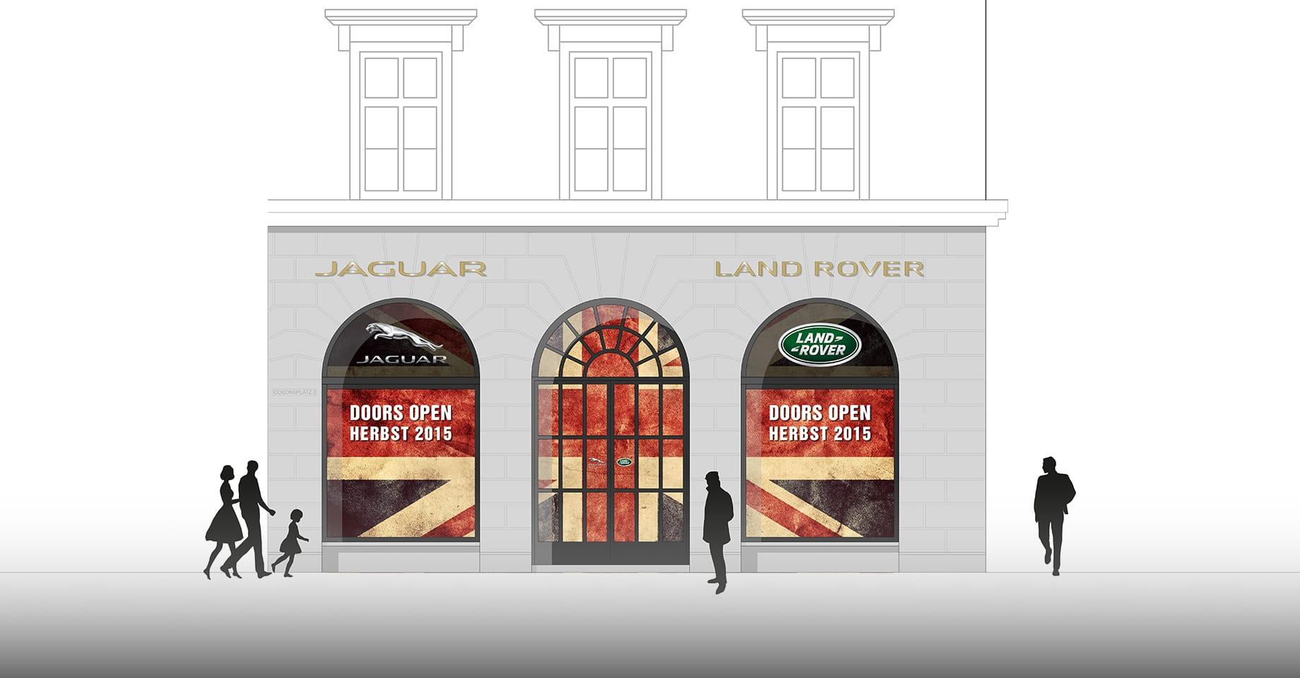 Fassadenbeklebung Jaguar Land Rover