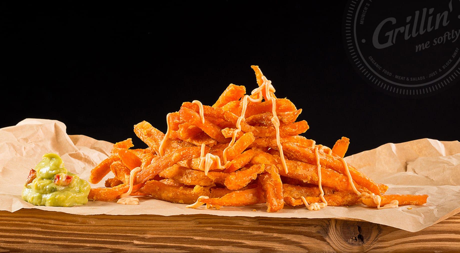 Süßkartoffel Pommes Grillin