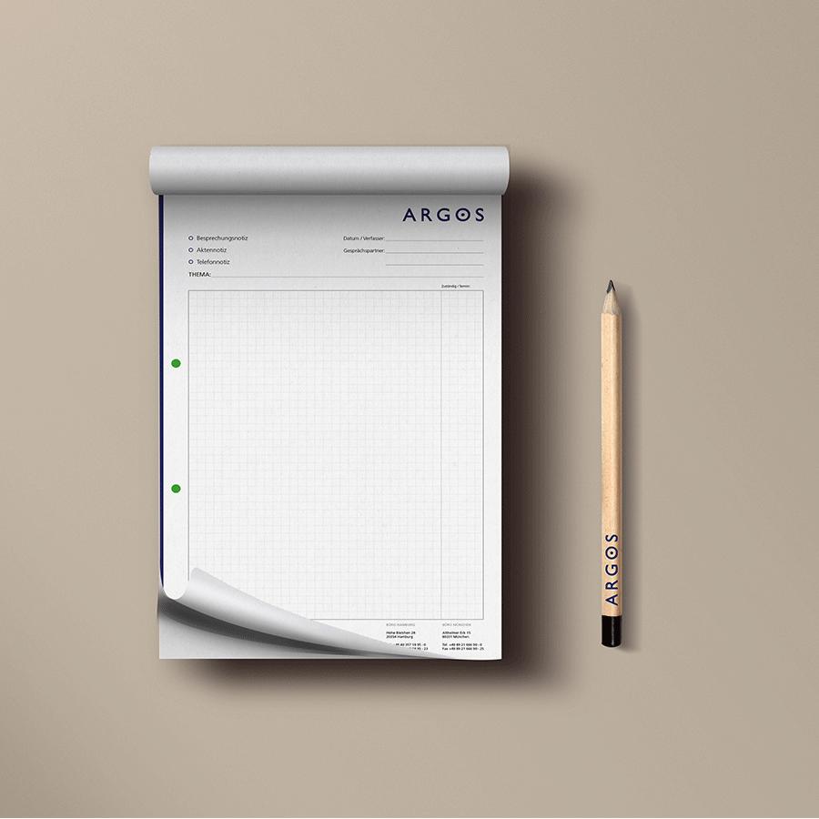 Notizblock + Stift Argos