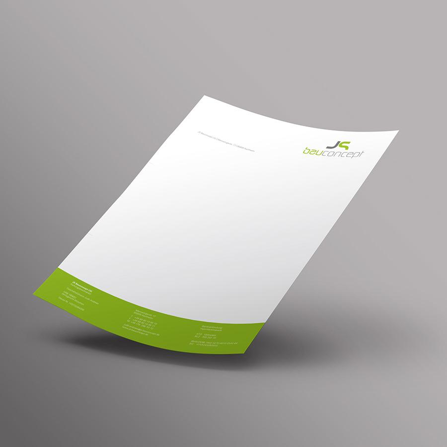 Briefpapier JS Bauconcept