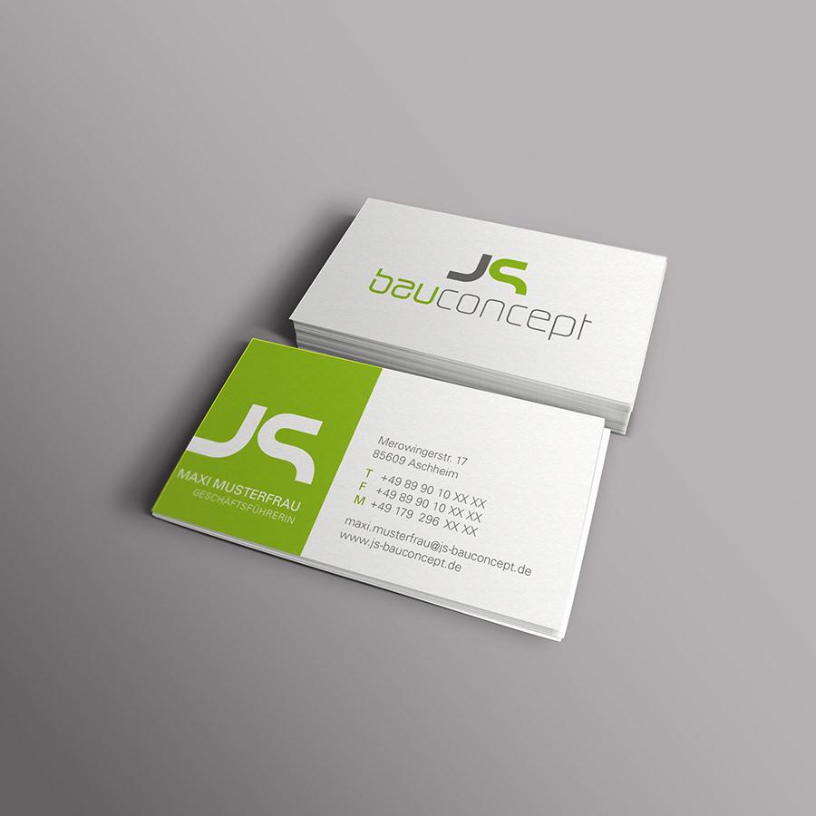 Visitenkarte JS Bauconcept