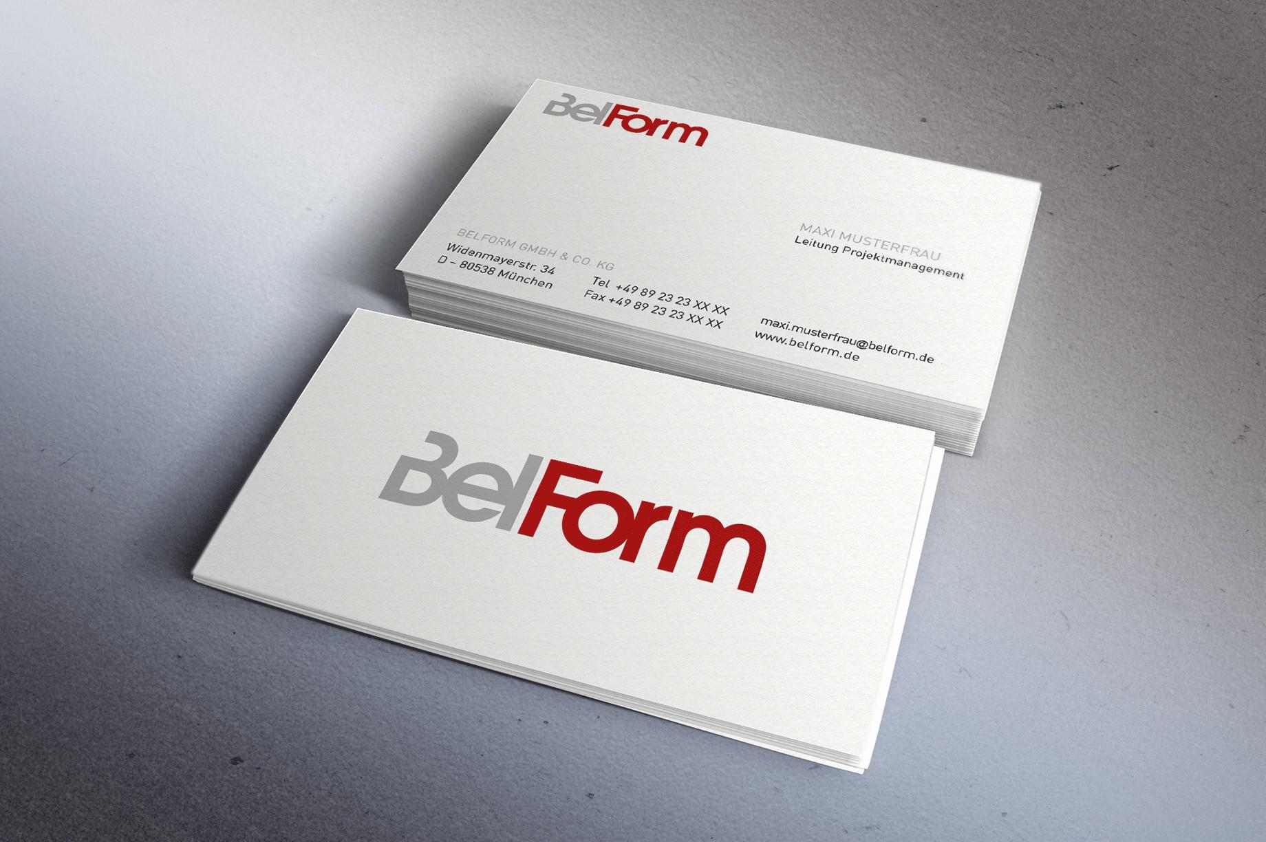 Visitenkarten Belform