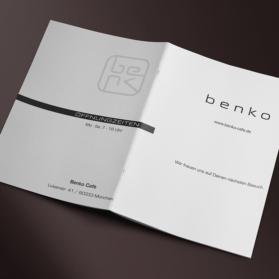Speisekarte offen außen Benko