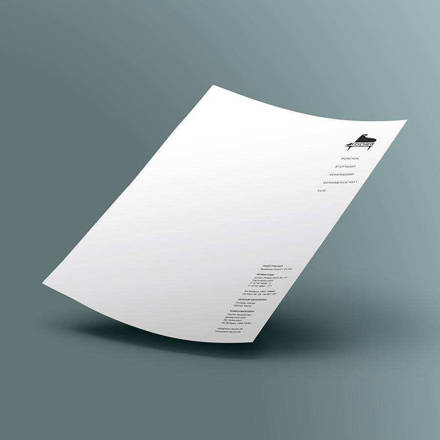 Briefpapier Piano Fischer