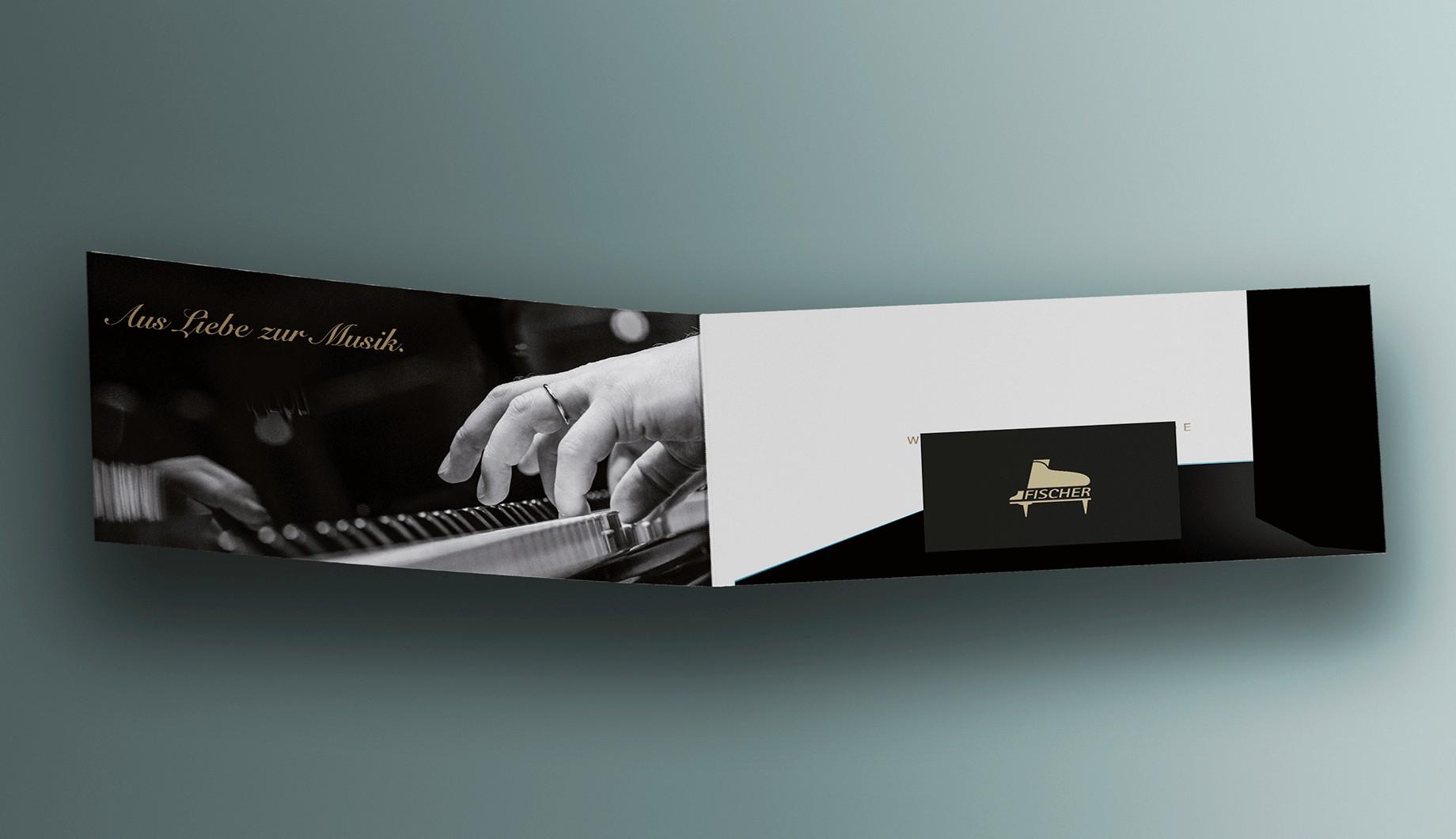 Klappkarte Innen Piano Fischer
