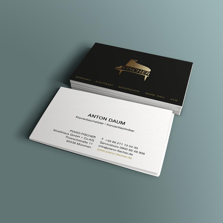 Visitenkarte Piano Fischer