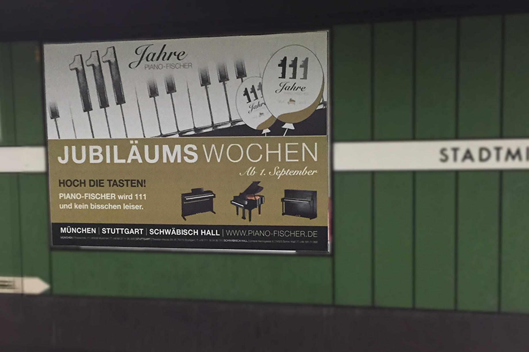 111 Jahre Plakat Piano Fischer
