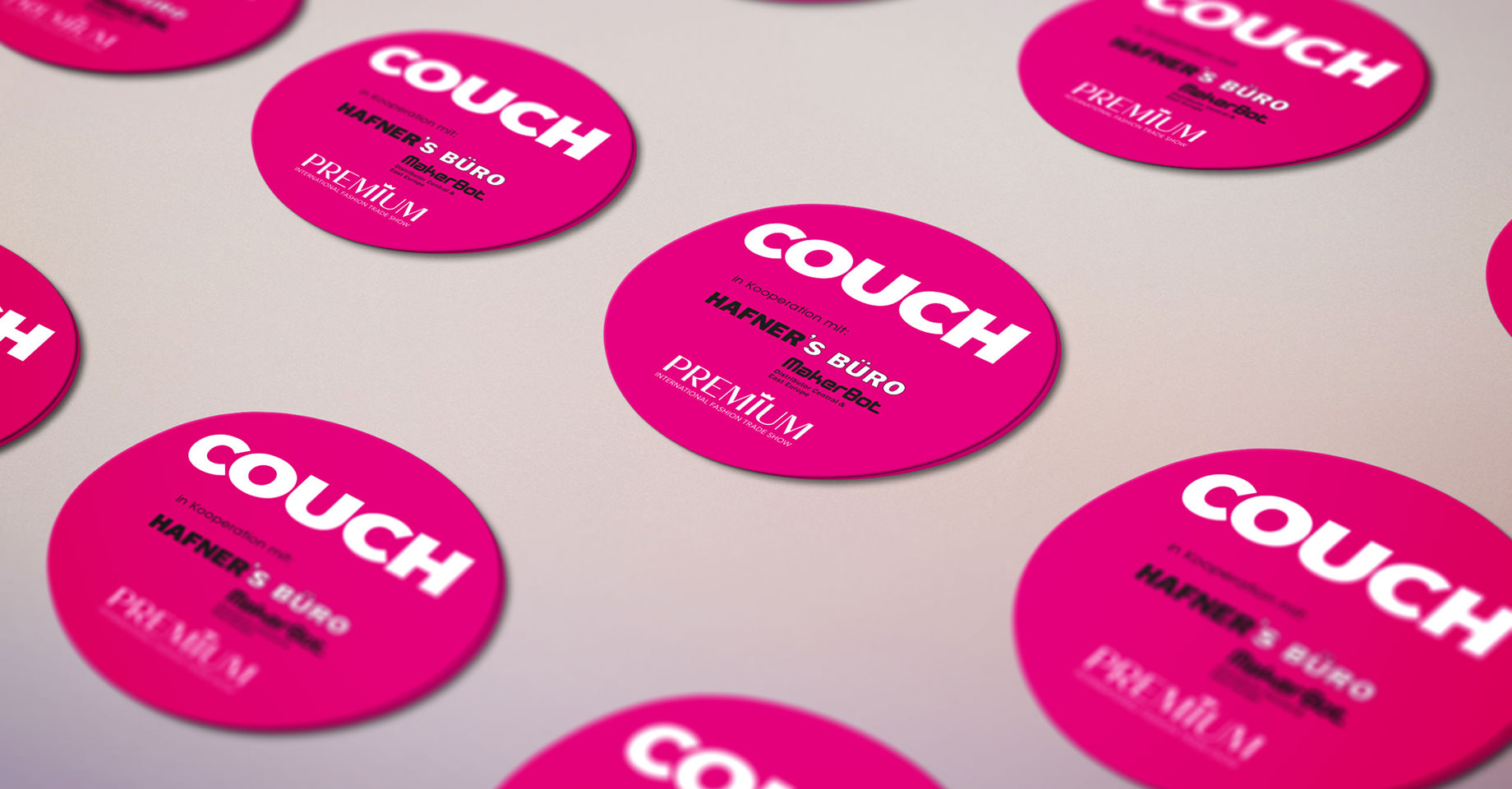 pinker Sticker couch