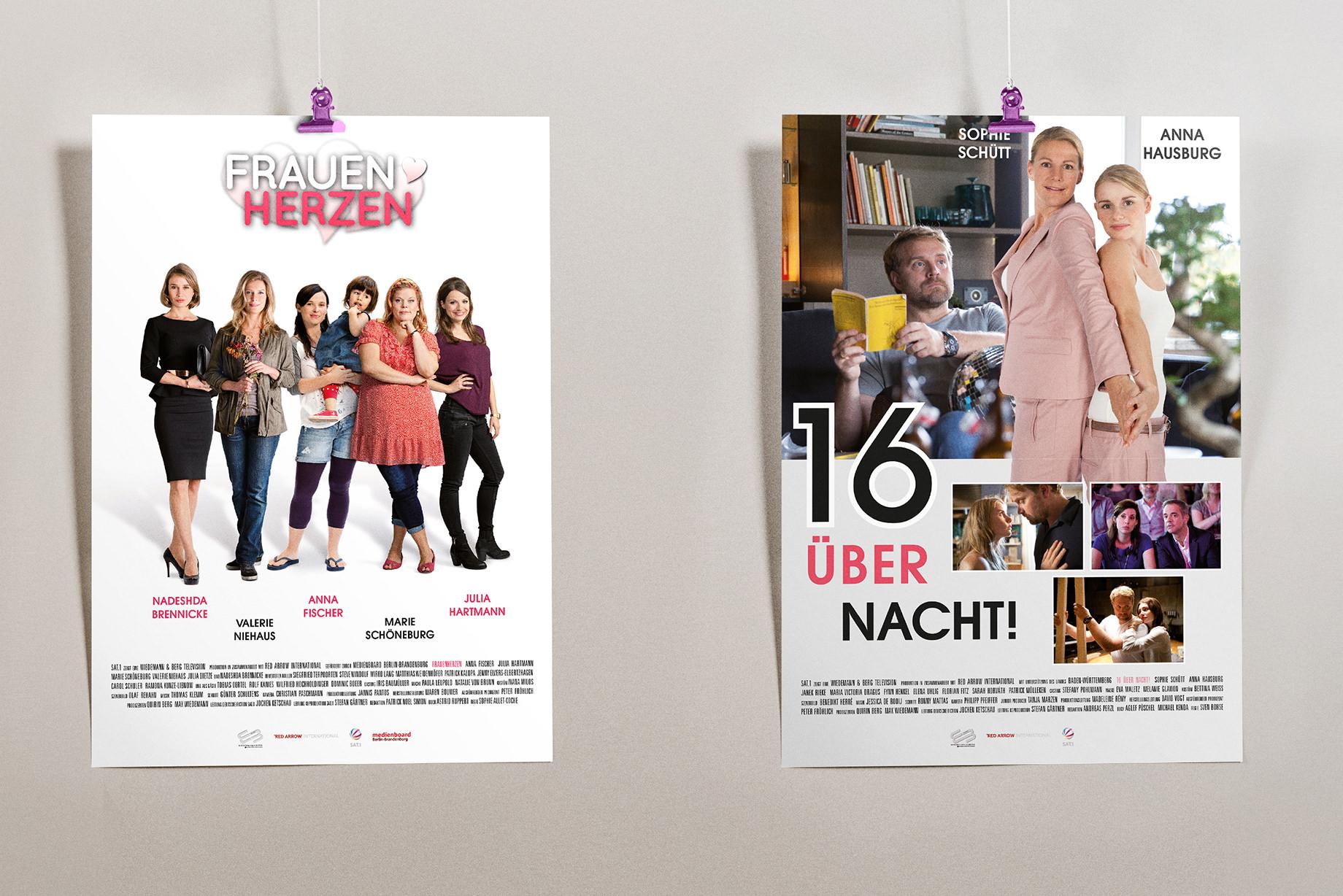 Frauenherzen, 16 über Nacht Plakate Wiedemann & Berg