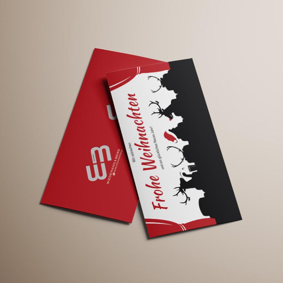 Weihnachtskarte Wiedemann & Berg