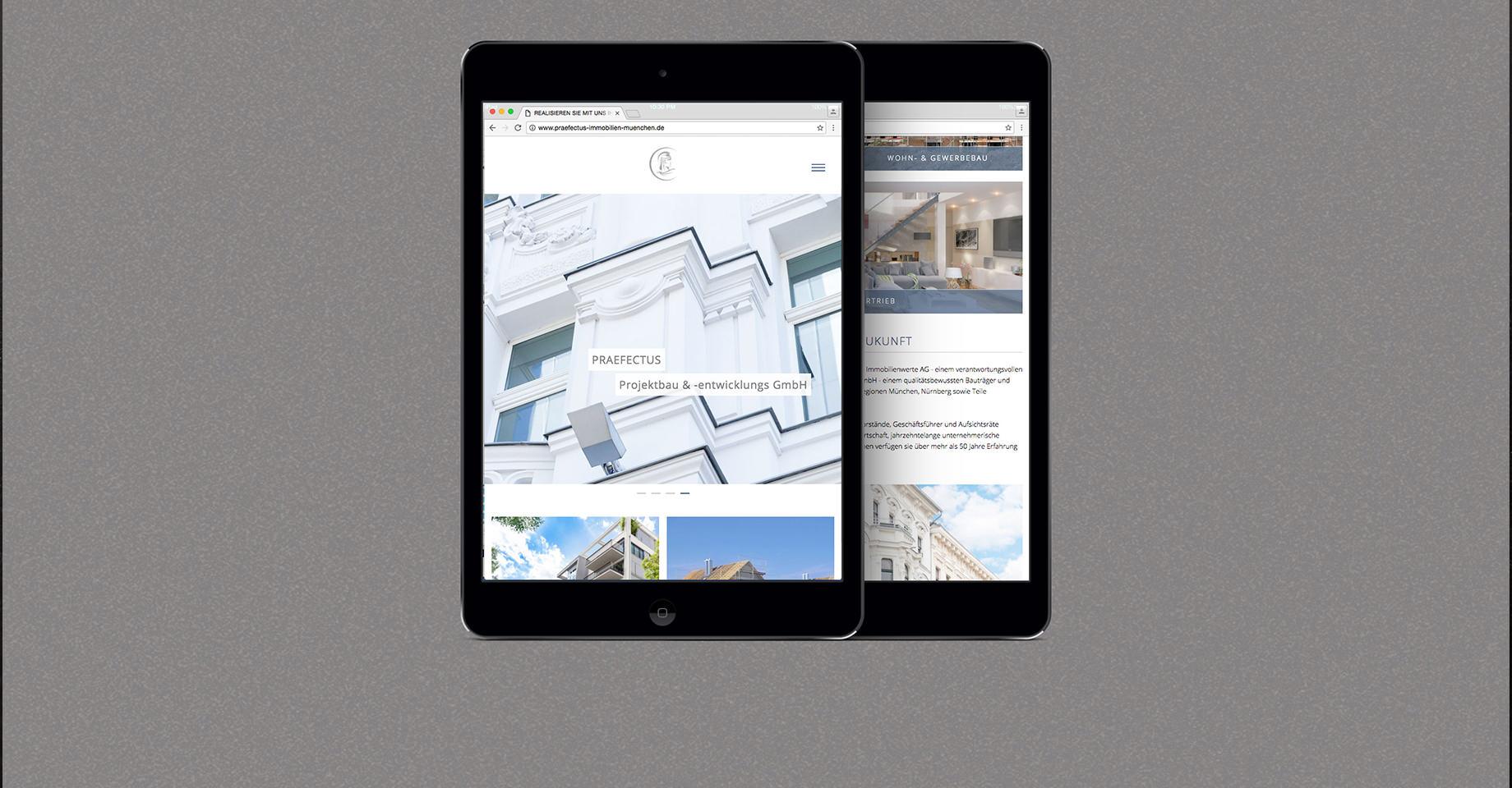 Tablet Website Praefectus