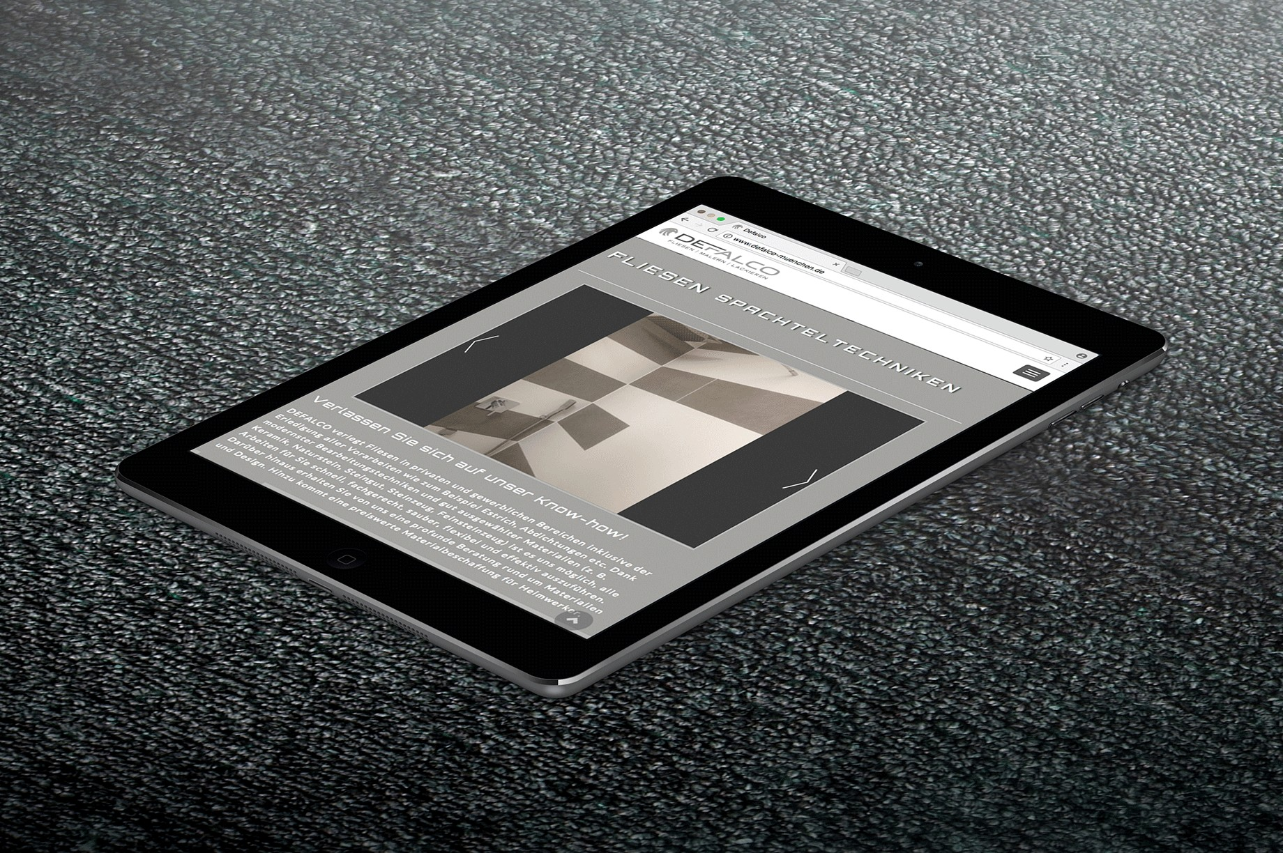 Tablet Website Defalco