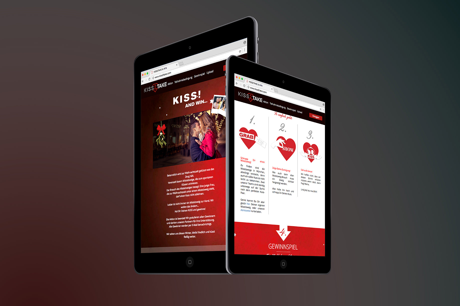 Tablet Website Kiss 2 Take