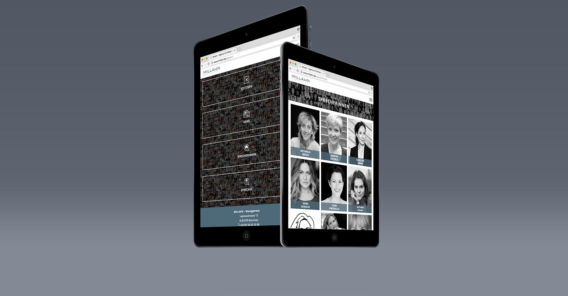 Tablet Website Millahn