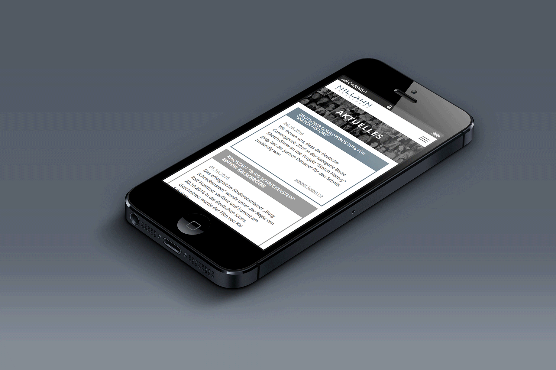 mobile Website Millahn
