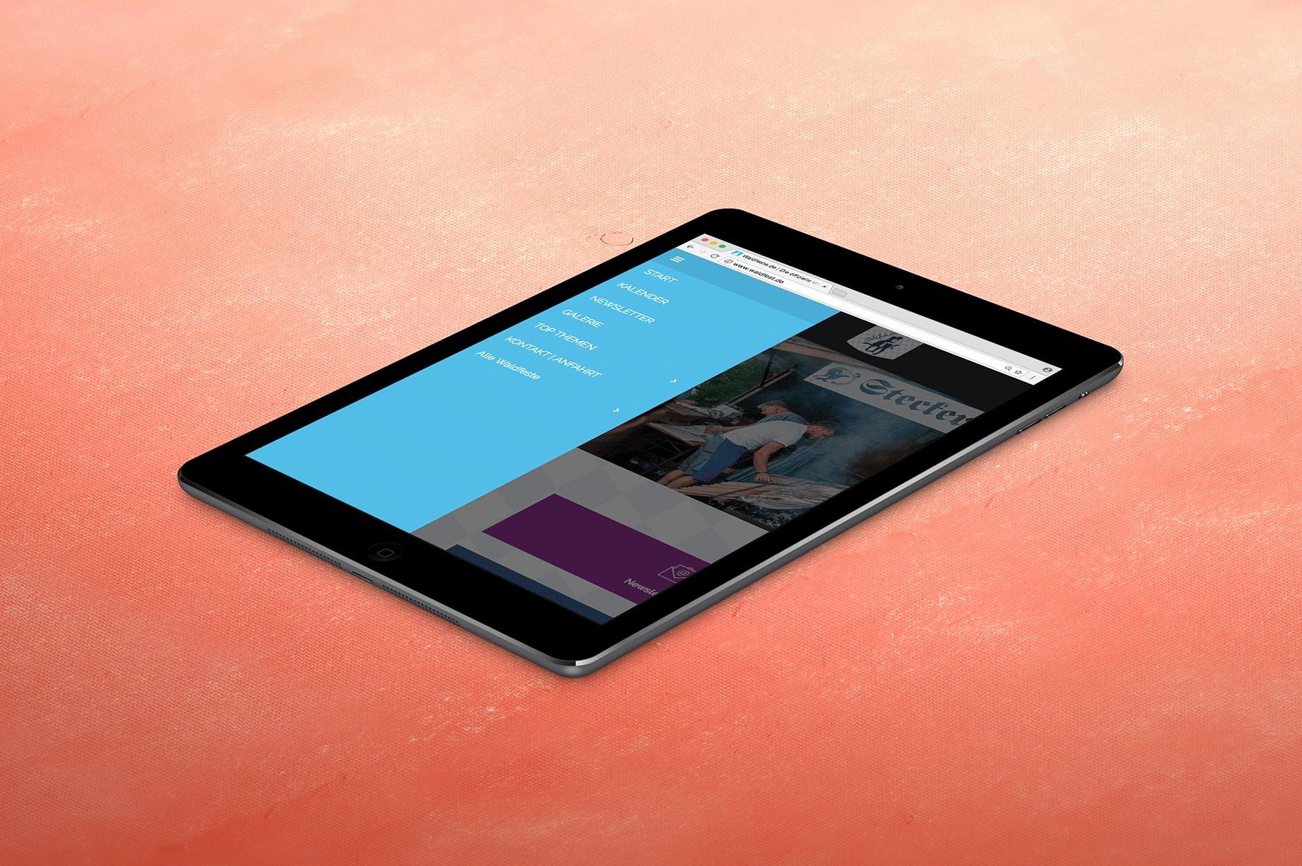 Tablet Website Waldfeste
